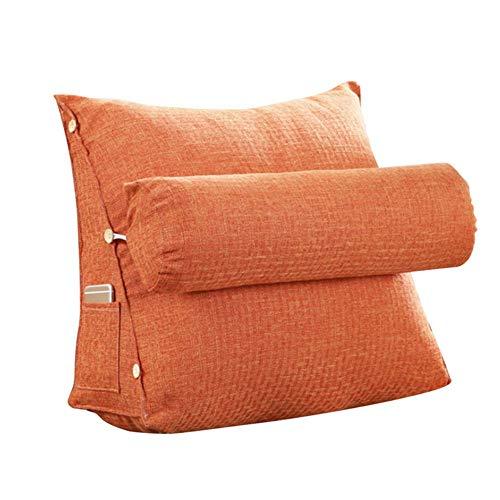 JYCRA Dreieckskissen, verstellbar, Keilkissen für Sofa, Bett, Bürostuhl, Rückenkissen, Baumwolle, Orange, 45x48x20cm