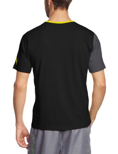 PUMA Herren T-Shirt Spirit Tee Black/Ebony/Blazing Yellow