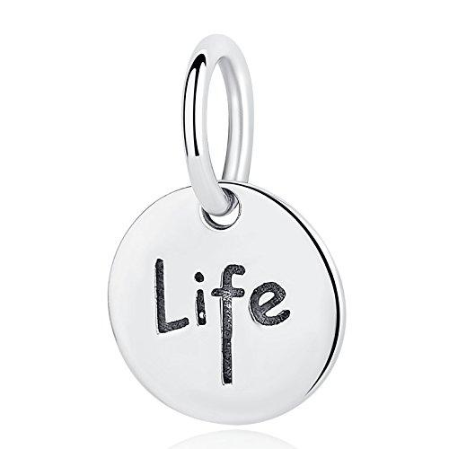 Authentic 100% Good Life charm in argento Sterling 925, con ciondolo charm bracciali collane donna DIY gioielli