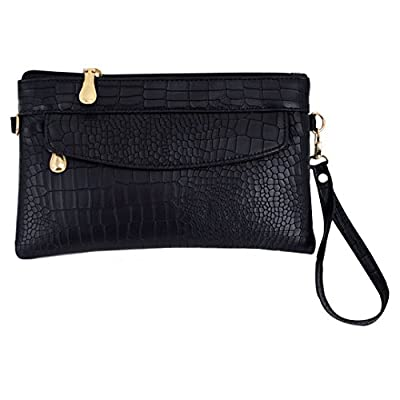 LA HAUTE Pu Leather Wristlet Handbags Small Shoulder Bags Phone Wallet Clutch Crossbody Bags