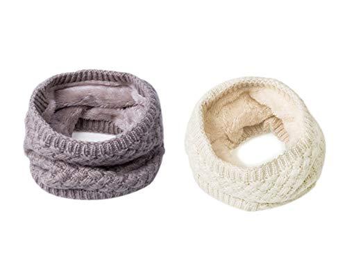 SimpLife Unisex Winter Schlauchschal Unendlichkeit Kreis Loop Schal Soft Knit Schals Halswärmer Neckchief Halstücher, atmungsaktiv, hautfreundlich, ausgezeichneter Warmhalteeffekt, schnell trocknend Soft Knit Schal