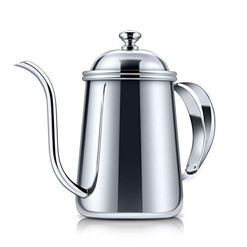 AIHOME 650ml Verdickte 304Edelstahl lang Schlank Auslauf Kaffeekanne Wasserkocher Filter für handgefertigte Tropfendes Kaffee Tee
