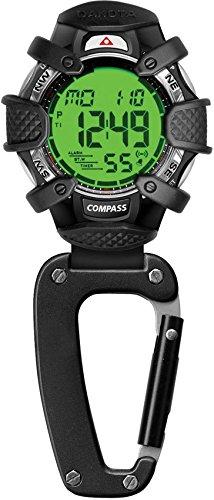 Für Dakota-uhren Männer (Dakota Watch Company Elektronischer Kompass Clip Watch Alarm und Stoppuhr, blau)