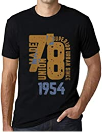 One in the City Hombre Camiseta Vintage T-Shirt Gráfico Superior Urban Since 1954 Negro