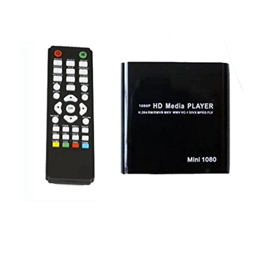 Sannysis 1080P Mini HDD Media Player MKV/H.264 / RMVB HD mit HOST USB/SD-Kartenleser (Schwarz) - Hd Hdd Media