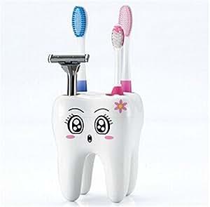 Hangqiao 4 Trou Porte-Brosse à Dents Holder Support Container Organiseur Présentoir Pour Brosse à Dents