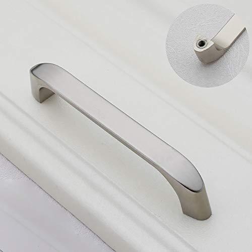 CYYDBB Türgriff Moderne Einfachheit Türdrücker Zinklegierungsplattierung Türgriffe Geeignet Für Schubladenschrank Schreibtisch Schuhschrank Computer Schreibtisch Schrank(2 Stück),9,M -