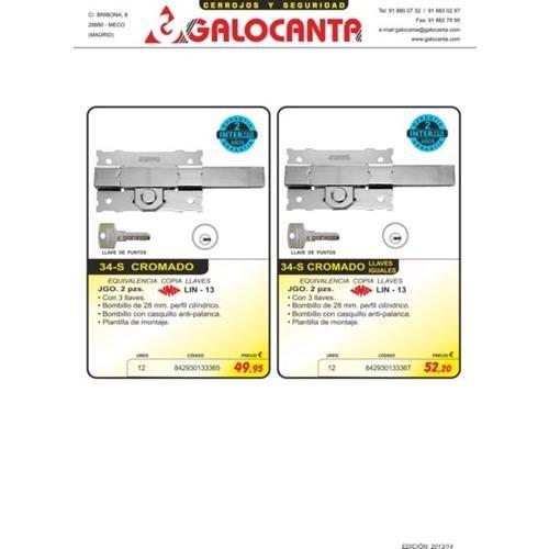 galocanta-cerojo chrom 34-s