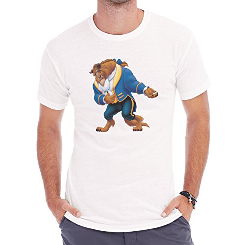 Beauty And The Beast Cartoon Bowing Herren T-Shirt Weiß