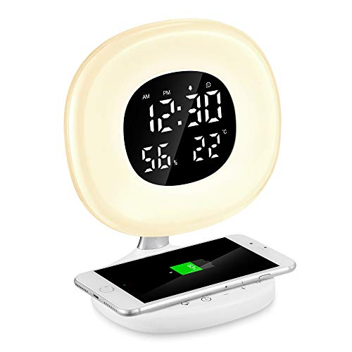 Reloj Despertador Digital de Luz, PAVLIT...