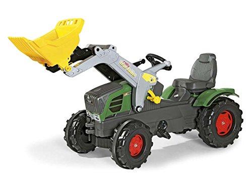 Rolly Toys Trettraktor Rolly Toys 611058 Traktor Farmtrac Fendt 211 Vario inklusive Frontlader Trac Lader, mit Kettenantrieb, Flüsterreifen, verstellbarer Sitz (für Kinder ab 3 Jahren, TÜV/GS geprüft,Farbe  Grün)