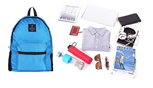 Kotiger sport all' aperto zaino pieghevole tracolla zaino da escursionismo e campeggio Storage pacchetto, Navy Blue