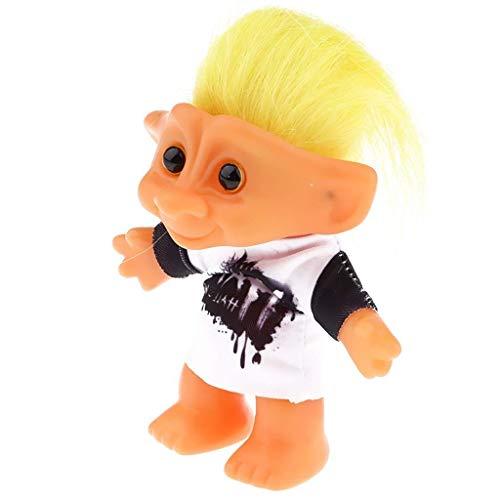 Miniatur Magie Elf Kunststoff Troll Puppe Indische Hässliche Kinder Retro Nostalgischen Spielzeug Hip Hop Drapierung Kleidung