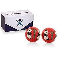 Meditation Qi-Gong-Kugeln mit Klangwerk | Klangkugeln | Yin Yang | Design Panda rot | verschiedene Durchmesser... preisvergleich bei billige-tabletten.eu