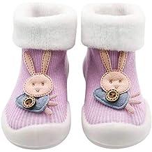 Mitlfuny Bebé Niños Niñas Invierno Zapatos para Niño Piso Calcetines Suelas de Goma Zapatillas para Niña