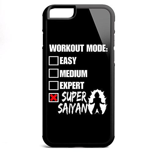 Smartcover Case Workout Mode: Super Saiyan z.B. für Iphone 5 / 5S, Iphone 6 / 6S, Samsung S6 und S6 EDGE mit griffigem Gummirand und coolem Print, Smartphone Hülle:Iphone 6 / 6S schwarz Iphone 6 / 6S schwarz
