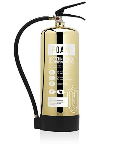 Designerin: poliert Gold 6Liter AFF SCHAUM Feuerlöscher. CE. NEU hergestellt. Ideal für Luxus Büros, Geschäften, Hotels, Restaurants und-sensiblen Bereichen.