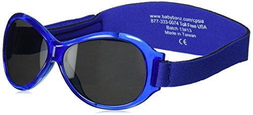 Banz 01089 Sonnenbrille Retro Baby mit elastischem Neoprenband, für Kopfumfang 40-52 cm (circa bis 2 jahre), UV400, blau