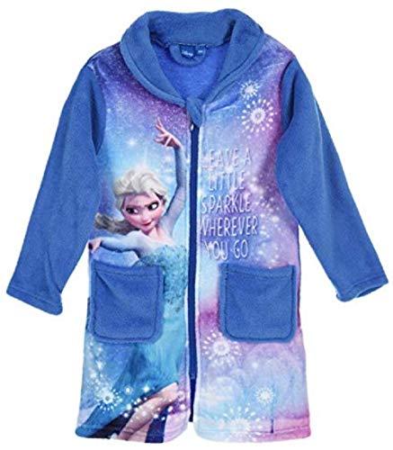 Trendstern Frozen - Albornoz para niña, diseño de Anna y Elsa Azul 110 cm