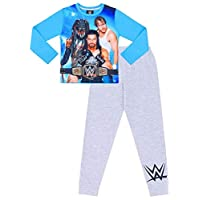 Boys WWE World Wrestling Entertainment Blue Grey Pyjamas