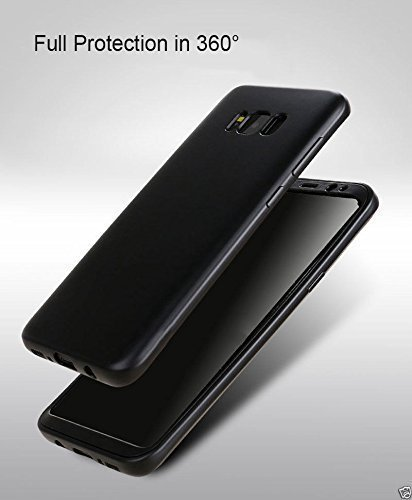 Mobilab Samsung Galaxy S8 Case, 360 Degree All-around Full Body Slim Fit Lightweight Soft TPU Protective Skin Case Cover for Samsung Galaxy S8 (Black)