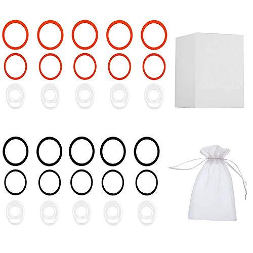 JINNUO TFV8 O'Ring Silikondichtungen Dichtung Cloud Beast O Rings Gummibänder 10er Pack (Orange and Schwarz)