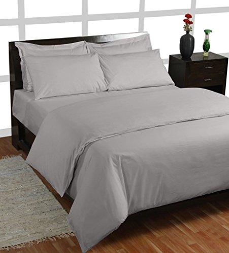 Homescapes – Taie d'oreiller Gris 50 x 90 cm – 100% coton – 200 fils