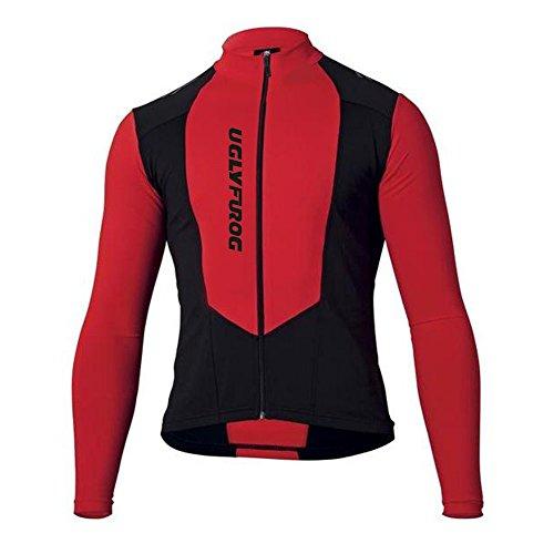 Uglyfrog Radtrikot Lange Ärmel Fahrradtrikot Herren T-Shirt Jersey Radsport Funktionsshirt Elastische Atmungsaktive Schnell Trocknen Stoff