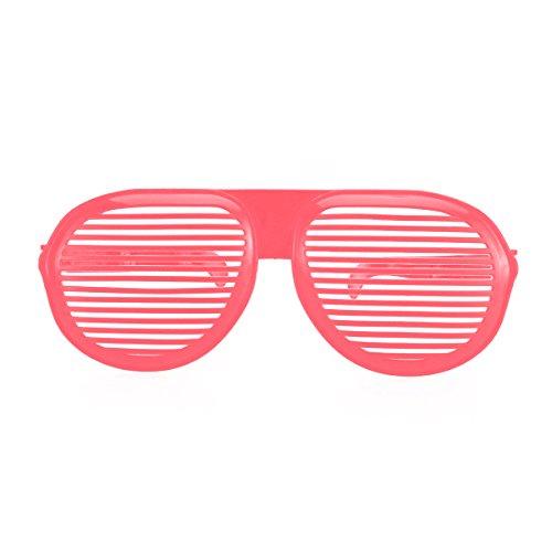 Tinksky Oversized Shutter Shading Brille Sonnenbrille für Kostüme Cosplay Halloween Party Spaß Foto Booth Requisiten (Pink)