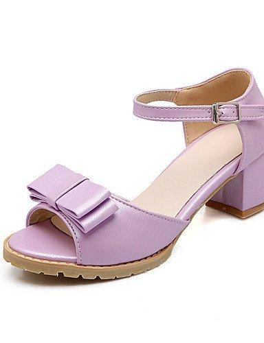 LFNLYX Chaussures Femme-Bureau & Travail / Habillé / Décontracté / Soirée & Evénement-Bleu / Rose / Violet / Blanc / Beige-Gros Talon-Talons / Purple