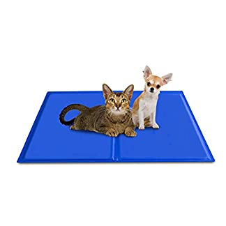 BIGWING Style Multifunction Cool Mat Pet Dog Cat Cooling Gel Mat Ice Pad Bed Reusable Ice Sleeping Pack – 65 x 50cm 419YxWFCbIL