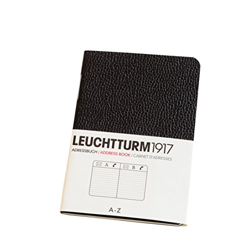 Leuchtturm1917 325725 Adressbuch (X Mini, im Kreditkarten-Format) schwarz