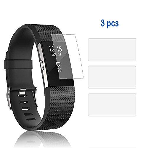 Displayschutzfolien, für Fitbit Charge 2, 3er Set, Abdeckung für iFeeker Smartwatch, weiches TPU, explosionsgeschützte HD-Ultra-klare Abdeckung mit Reinigungstuch für Fitbit Charge 2Herzfrequenz- und Fitness-Armband