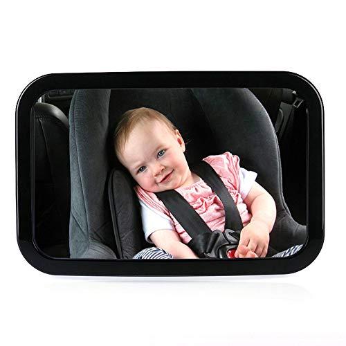 CARACHOME Rücksitzspiegel,Ruecksitzspiegel für Babys,Einstellbar 360 Grad drehbar,100{5640ca9e2cc7a405c77f5f3dd4c39ac33410bae38c4f47b4cb50e658089be15a} bruchsicher,Schnellinstallation,schwenkbar/neigbar,autospiegel Baby