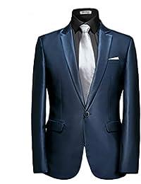 Para hombre 2piezas Tailored Fit Smart traje formal clásico boda Prom Party Blazer pantalones