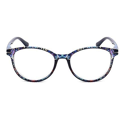 Zhuhaixmy Männer und Frauen Oval Frame Lesebrille mit Blumenmode Fashion Leser Brillen - wählen Sie Ihre Vergrößerung