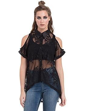 Camisa Jawbreaker Sheer Lace (Negro)