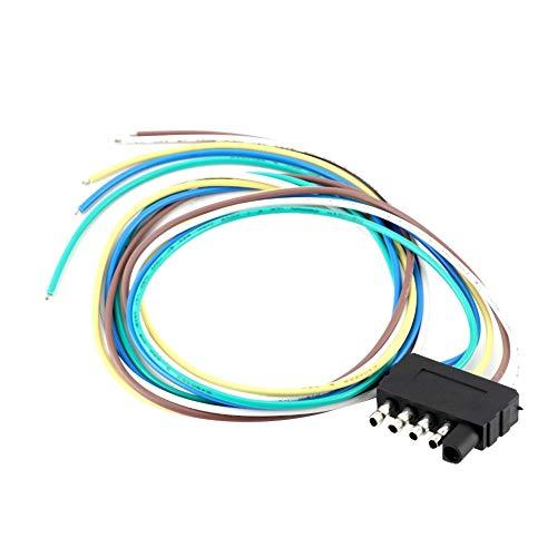 Gorgeri Trailer Plug Adapter, 12V 5Pin Verlängerungskabel Steckdose Adapter Steckverbinder für Trailer Nutzfahrzeug -