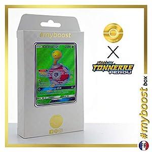 Caratroc-GX (Shuckle-GX) 195/214 Full Art - #myboost X Soleil & Lune 8 Tonnerre Perdu - Box de 10 Cartas Pokémon Francés