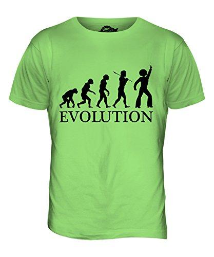 CandyMix Discoteca Evoluzione Umana T-Shirt da Uomo Maglietta Verde Lime