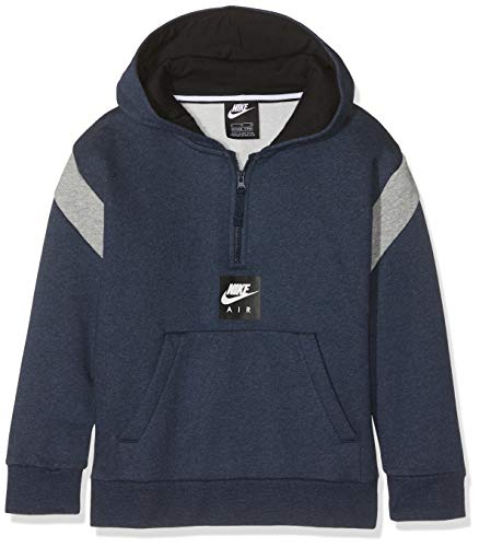 Nike B Nk Air Hz Po Sweatshirt, Kinder S blau (obsidianheather/dk Grey Heather) - Air Pullover