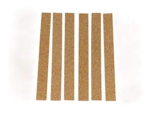 shoperama 6 Selbstklebende Huteinlagen Polster aus Kork zur Passoptimierung Einlegeband Größenveränderung (Kork Hut Kostüm)