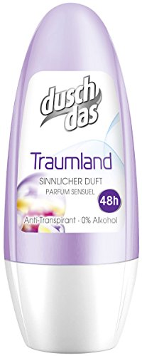 Duschdas Deo Roll-On Traumland Anti-Transpirant, 6er Pack (6 x 50 ml) (Aluminium-freie Deos)