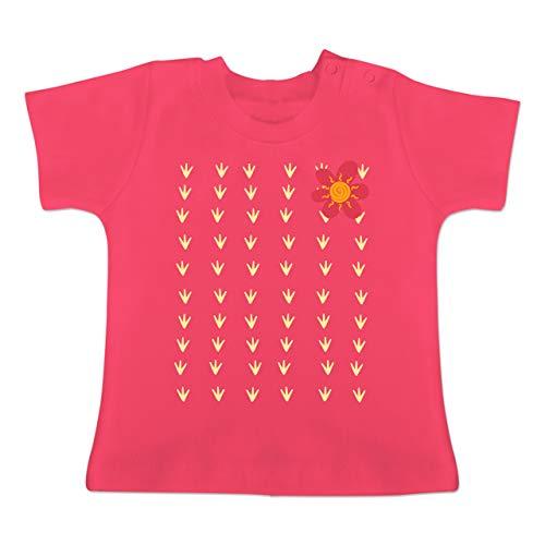 Karneval und Fasching Baby - Kaktus Karneval Kostüm - 18-24 Monate - Fuchsia - BZ02 - Baby T-Shirt - Baby Kaktus Kostüm