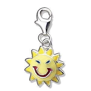 Schmuck-Pur My Charms Silber Bettelarmband-Anhänger Sonne