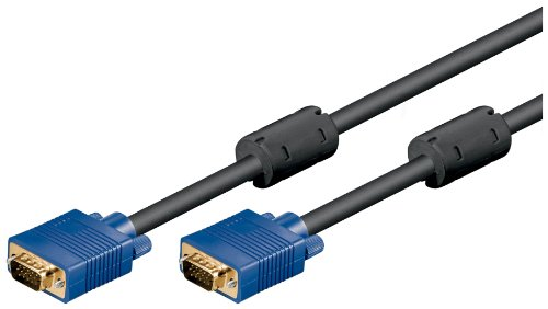 Wentronic Monitorkabel (15-polig HD Stecker auf 15-polig HD Stecker, XGA, SVGA) 1,8m schwarz - 2-polig Line