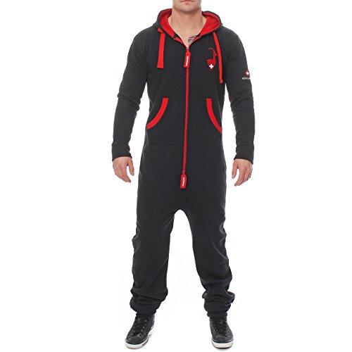 Höhenhorn 95E45 Herren Gaudi Edition Jumpsuit Jogging Anzug Overall Schwarz S