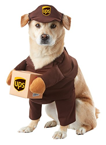 Uniform Ups Kostüm - California Costumes pet20151 UPS PAL Dog Kostüm, groß