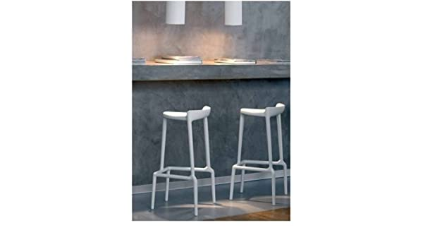 Sgabello di bar happy pedrali bianco amazon casa e cucina