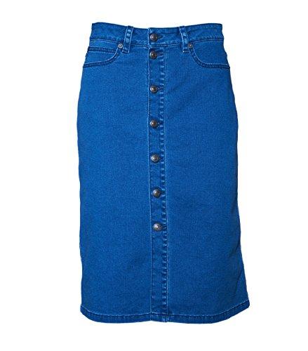 drykorn rock Drykorn Damen Rock mit Knopfleiste in Blau 34 blau 31